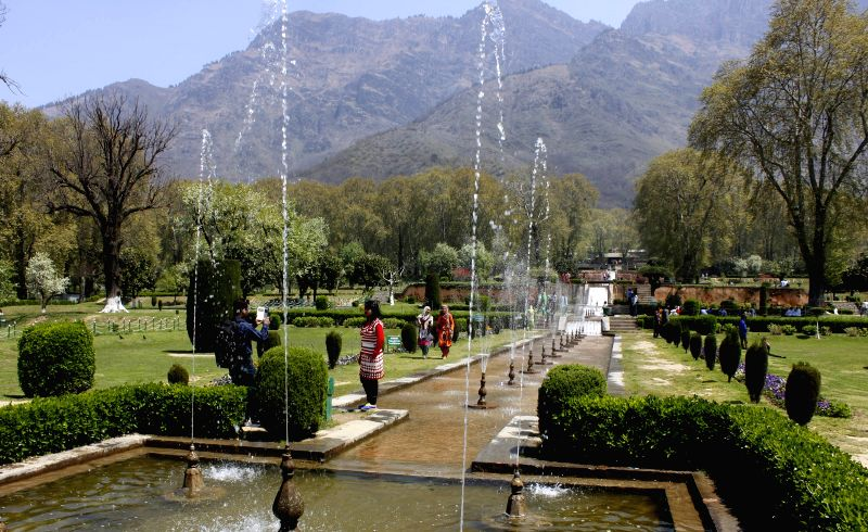 A view of Srinagar's Nishat Bagh, that was opened for general public on April 14, 2015.