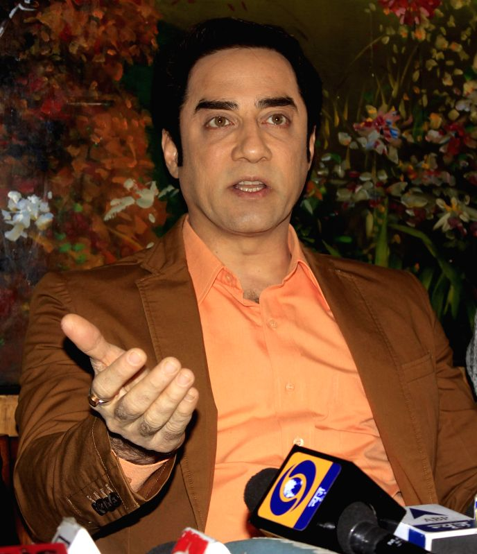 Actor Faisal Khan during a press conference to promoter his upcoming film `Chinar-Daastaan-e-Ishq` in Srinagar, on Feb 9, 2015. - Faisal Khan