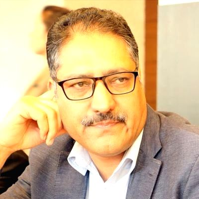 ": Srinagar: Senior journalist and Editor-in-Chief of English daily ""Rising Kashmir"" Shujat Bhukhari who was shot dead by militants outside his office in Srinagar, on June 14, 2018. (Photo: IANS)."