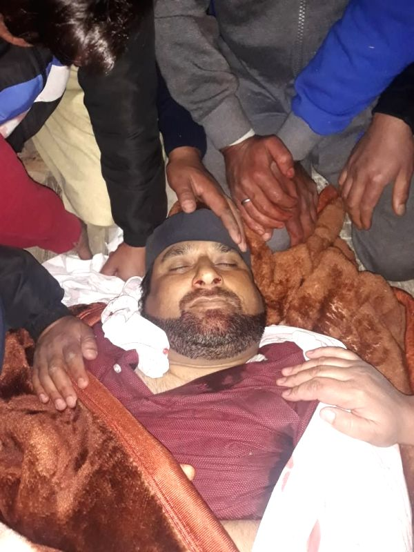:Srinagar: The Peoples Democratic Party (PDP) activist who was shot dead by militants on the outskirts of Srinagar city, on Oct 28, 2018. Police said the militants fired from close range at ...
