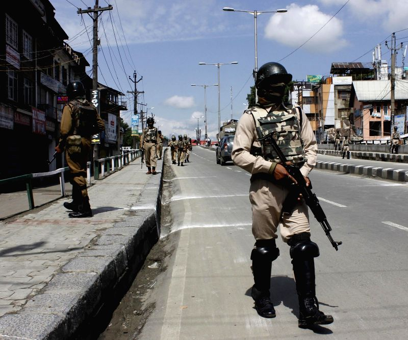 Srinagar turns into a fortress as Prime Minister Narendra Modi visits the city on July 4, 2014. - Narendra Modi
