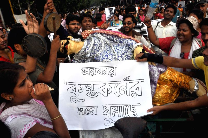 SSC students demonstrate against West Bengal Government in Kolkata on May 5, 2014.