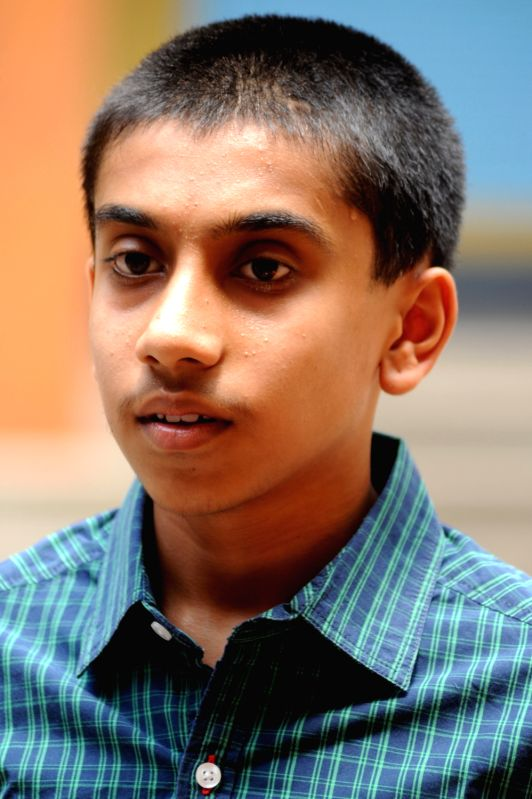 SSLC topper Sudeendra, who is the topper in the Karnataka SSLC examination of this year (622/625) , in Bangalore on Monday 6th of May 2013.