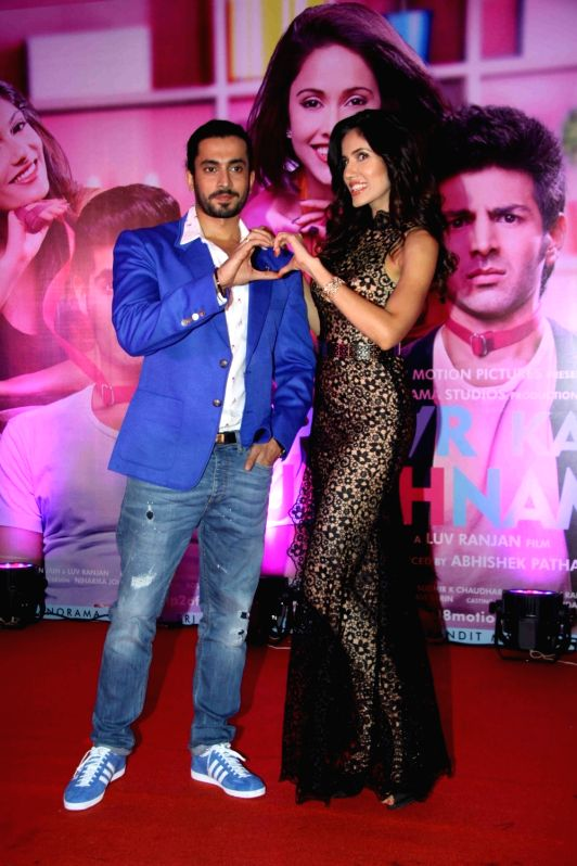Star cast of the film during the success party of film Pyaar Ka Punchnama 2 in Mumbai, on Oct 28, 2015.