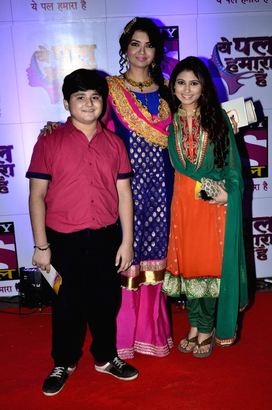Star cast of the serial during the launch of their new show Yeh Pal Hamara Hai on television channel Sony Pal, in Mumbai, on Aug. 21, 2014.