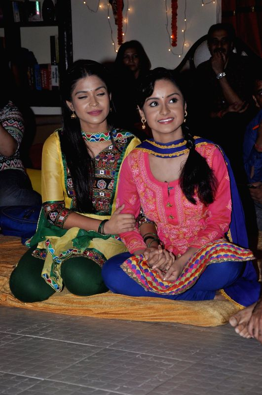 Stat cast of Shastri Sisters during the press conference of Colors new TV show Shastri Sisters in Mumbai, on July 17, 2014.