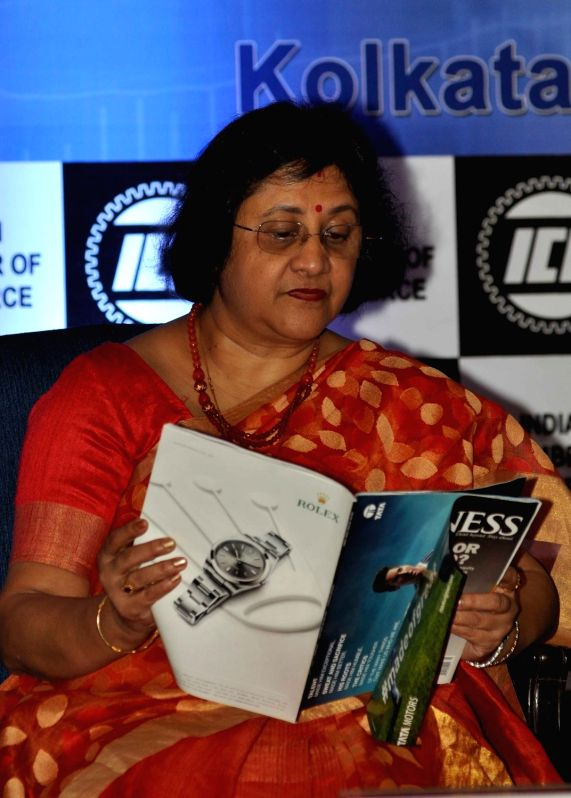 State Bank of India Chairman Arundhati Bhattacharya during a program organised by Indian Chamber of commerce in Kolkata on Dec 5, 2015.
