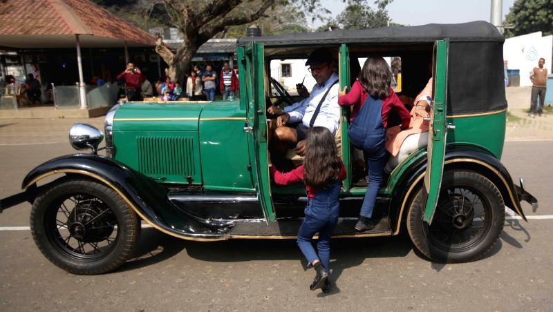 Statesman Vintage and Classic Car Rally underway in Kolkata on Jan 28, 2018.