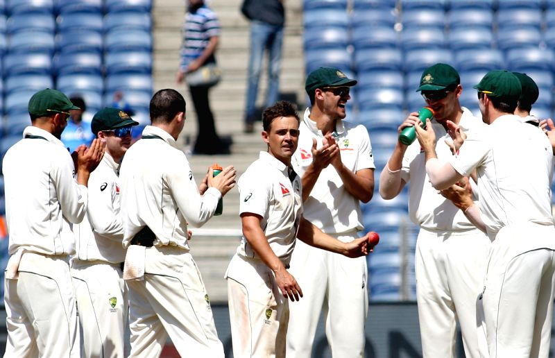 video australia india pune first test three highlights steve okeefe smith