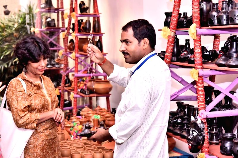 Still from the ITRHD-organised Azamgarh Mahotsav 2019, Uttar Pradesh, which promotes and conserves rural crafts, arts and heritage (Source: IANS/ITRHD)