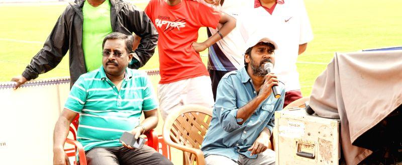 Stills form Telugu film `Eetti`.