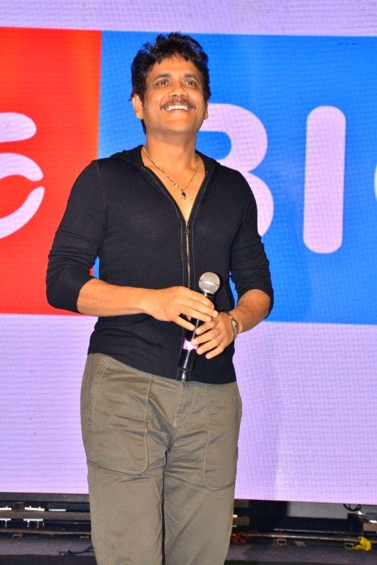"""Stills from audio launch of film """"Devadas"""" in Hyderabad."""