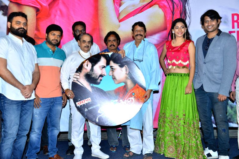 """Stills from audio launch of film """"Naa Love Story"""" in Hyderabad."""