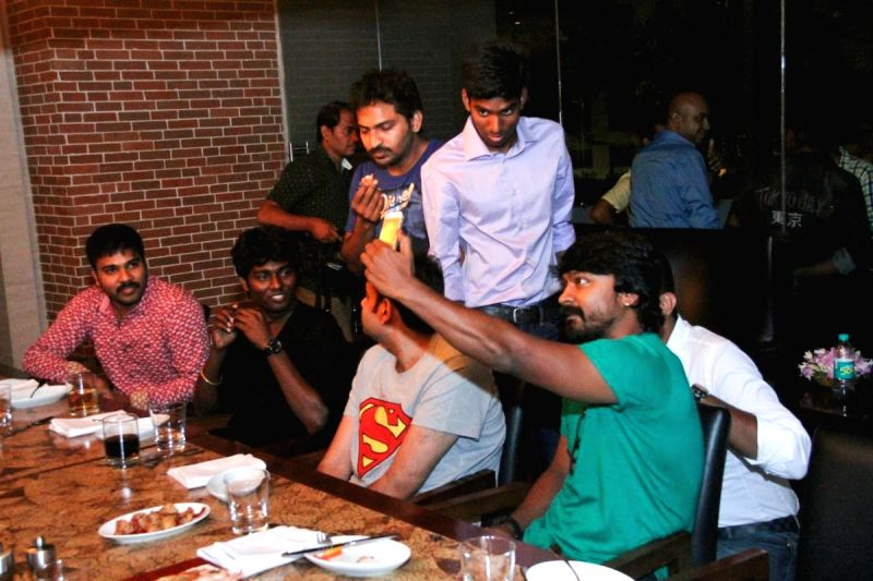 Stills from Kappal (upcoming Tamil film) dinner.