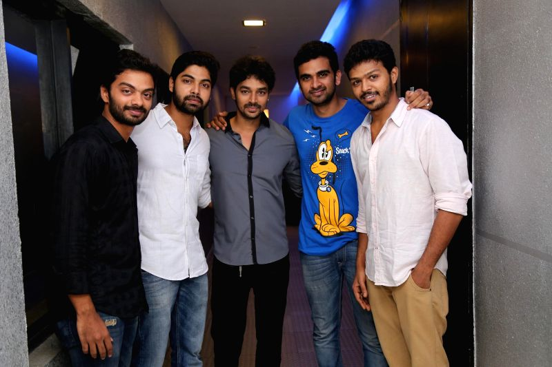 Stills from premiere of Tamil film `Irukku Aana Illa` in Chennai on July 19, 2014.
