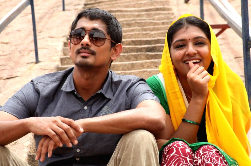 Stills from Tamil film `Jigarthanda`.