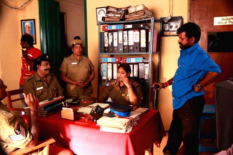 Stills from Tamil film `Kaaval`.