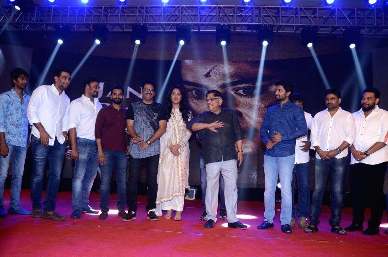 """Stills from Telugu film """"Bhaagamathie"""" Pre Release in Hyderabad."""