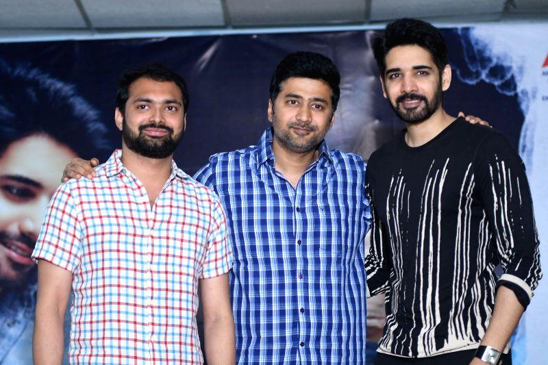 "Stills from telugu film ""Chi La Sow"" success meet in Hyderabad."