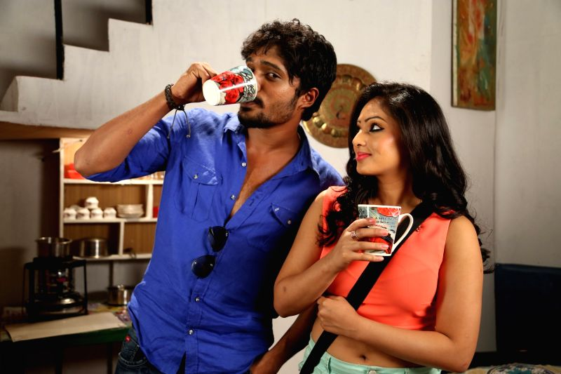 Stills from Telugu film `karaiyoram`.