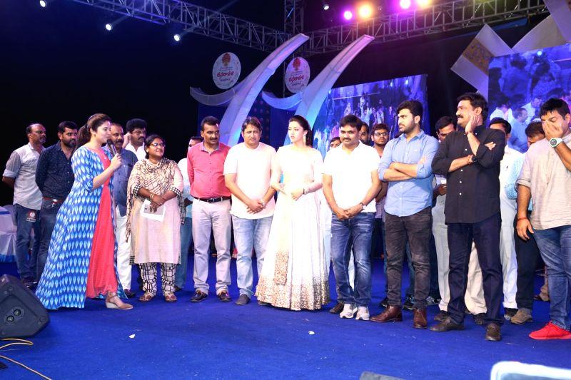 """Stills from Telugu film """"Mahanubhavudu"""" in Hyderabad."""