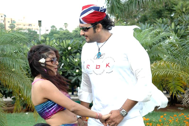 Stills from Telugu film `Manase Maaya`.