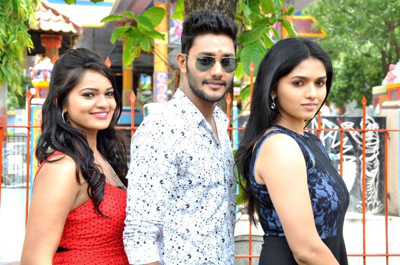 stills from Telugu film `Pelliki Mundu Prema Katha`.