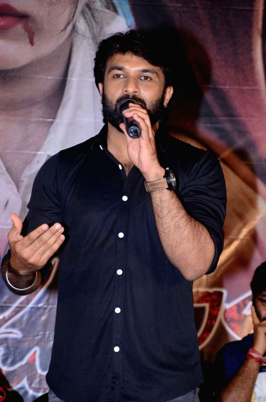 Stills from Telugu film 'Real Dandupalyam' press meet in Hyderabad.