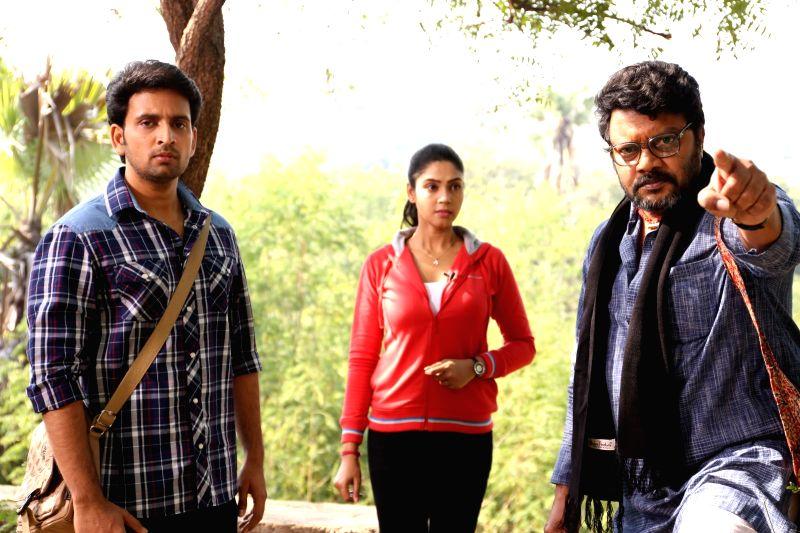 Stills from Telugu film `Sri Sri`.