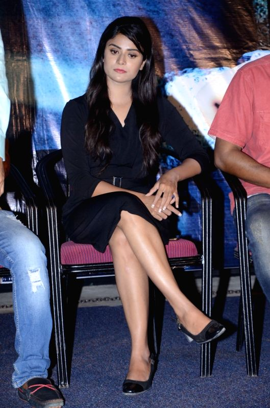 Stills from Telugu film 'Tharuvatha Evaru' press meet in Hyderabad.