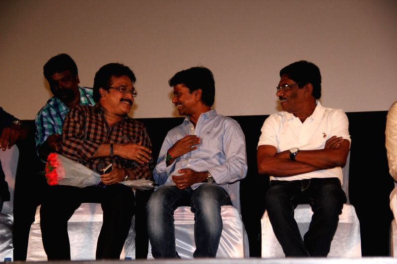 Stills from the audio launch of upcoming Tamil film 'Appuchi Graamam'. (Photo : IANS)