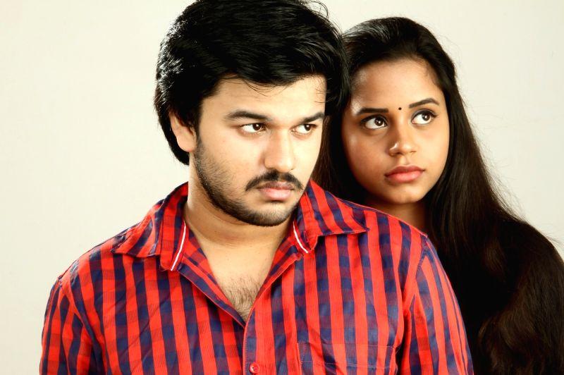 Stills from the film `Thiruttu Rail`.