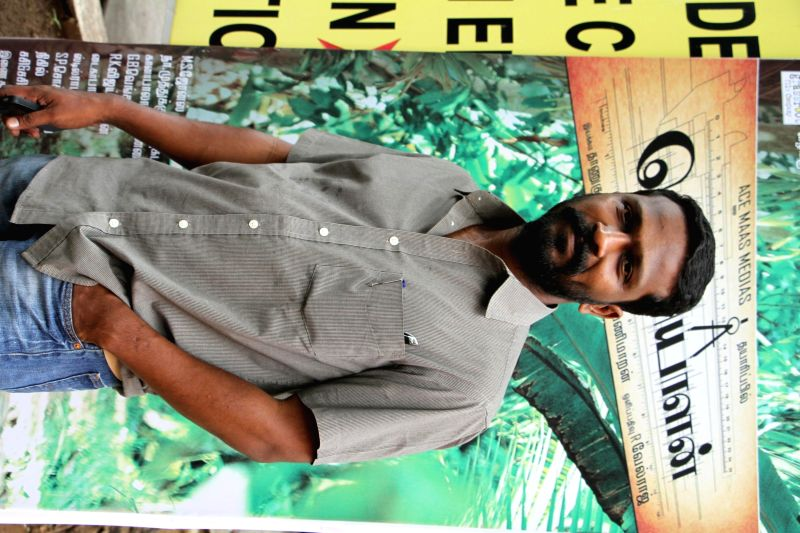 Stills from the press conference of upcoming Tamil film `Poriyaalan`.