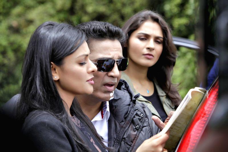Stills from the shooting of actor Kamal Haasan's upcoming film Vishwaroopam 2. - Kamal Haasa