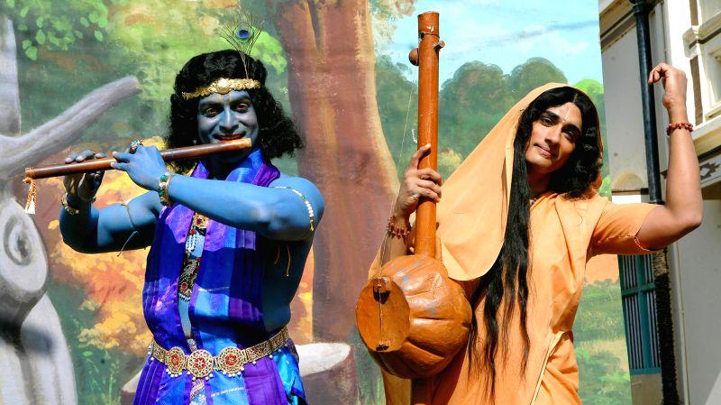 Stills from upcoming Tamil film `Kaaviya Thalaivan`.