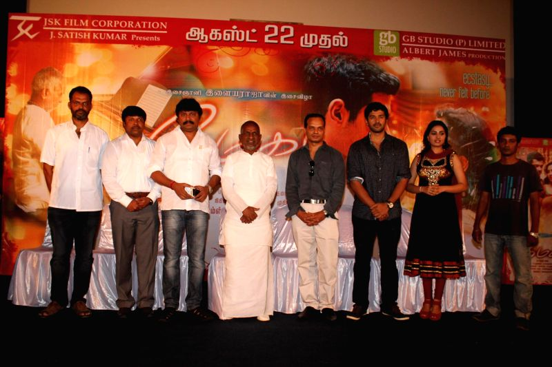 Stills from upcoming Tamil film `Megha` press conference.