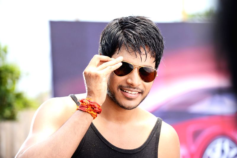 Stills from upcoming Telugu film 'Ra Ra Krishnayya'.