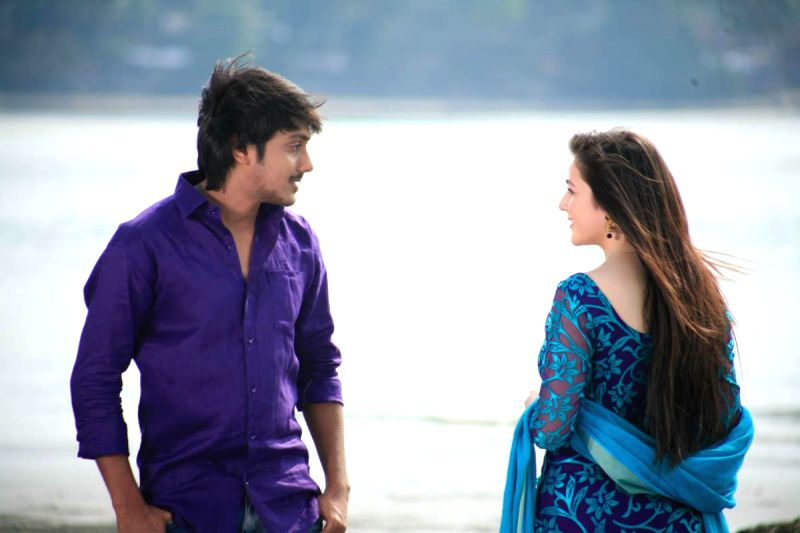 Stills from upcoming Telugu film 'Saheba Subramanyam'.