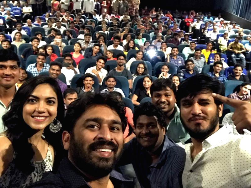 Stills of Keshava Movie Unit Success Tour at Vizag Movie.