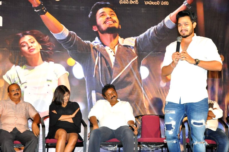 Stills of teaser launch of Telugu film Angle.