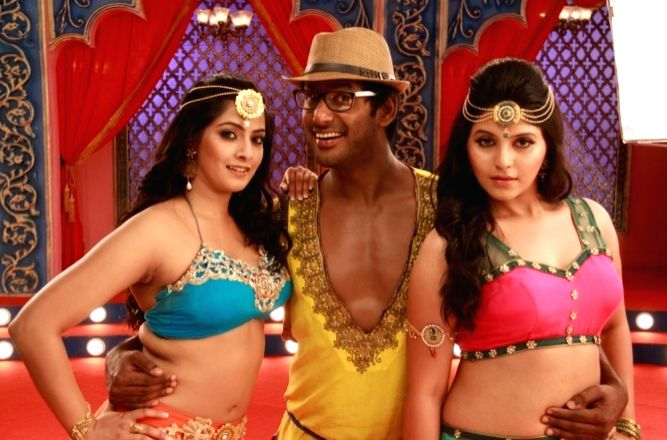 Stills of Telugu film Mada Gaja Raja. (Photo: IANS) .