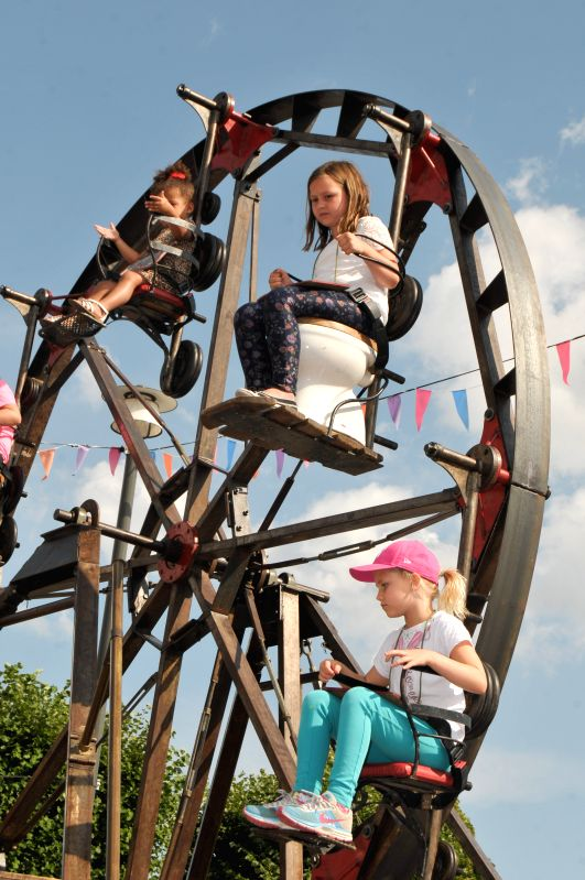 Children play at a Culture Festival in Stockholm, capital of Sweden, Aug. 12, 2014. The Culture Festival, which Stockholm of Sweden and Barcelona of Spain joined .