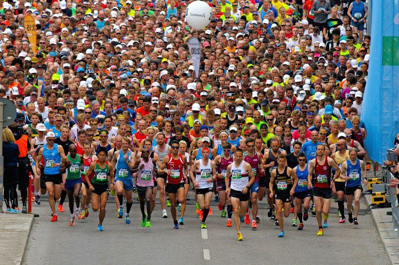 STOCKHOLM, June 3, 2017 - Runners compete during the Stockholm Marathon 2017 in Stockholm, capital of Sweden on June 3, 2017.