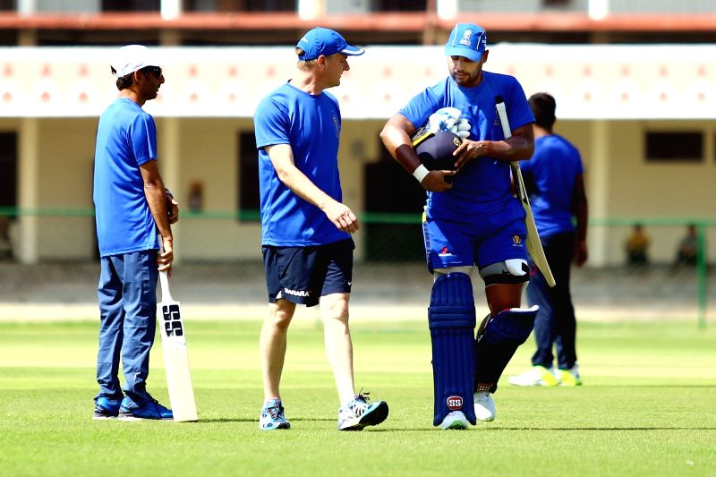 Stuart Binny of Rajasthan Royals during a practice session in Jaipur, on March 13, 2018.