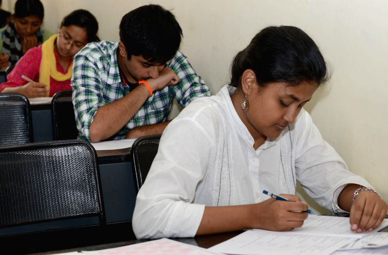 Students appear for COMEDK exams in Bangalore on May 11, 2014.
