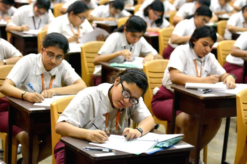 Students appear in ICSE class 10 exams