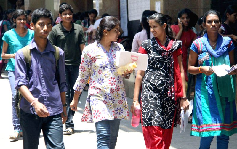 Students at an exam centre during the Common Entrance Test (CET) in Bangalore on May 1, 2014.