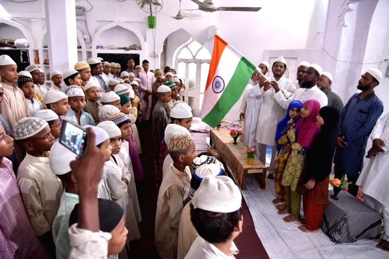 Independence Day preparations at a madrassa