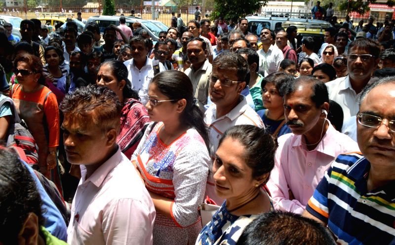 Students come out after appearing for National Eligibility and Entrance Test in Mumbai, on May 7, 2017.