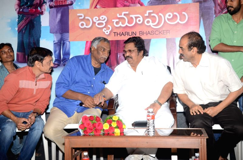 Success meet of Telugu film Pelli Choopulu in Hyderabad on 1st Aug., 2016.